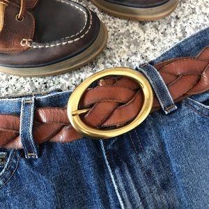 Braided Leather Belt Large